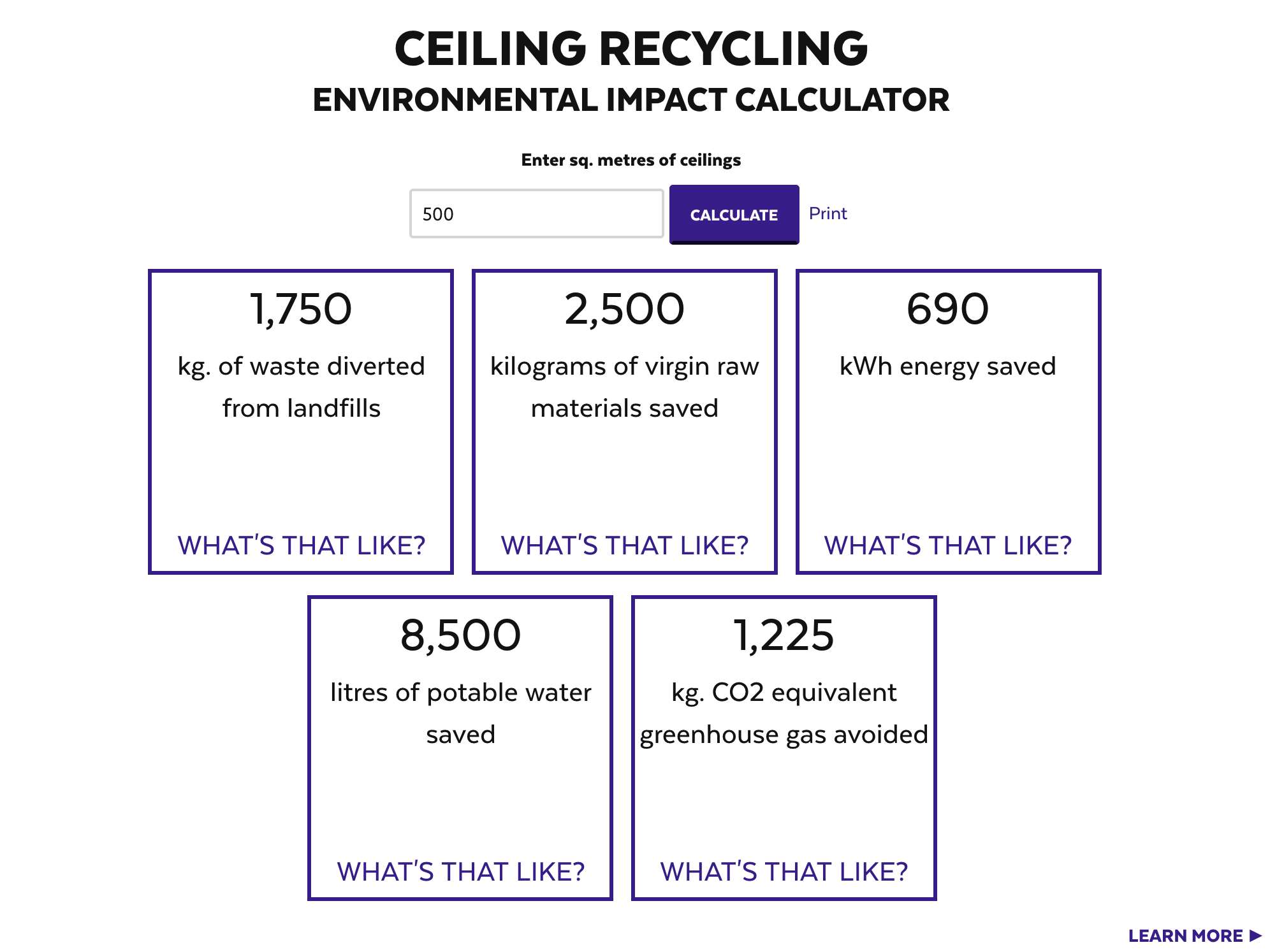 Have You Tried Our Ceiling Recycling Environmental Impact Calculator