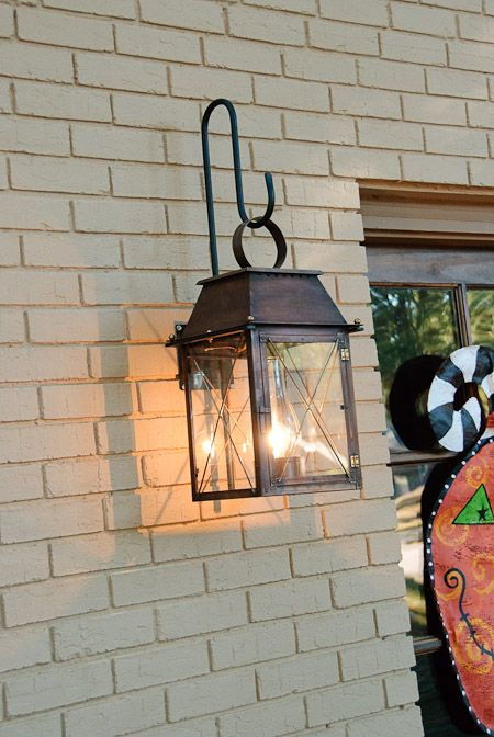 outside light fixtures brick house The End of a Chapter Home