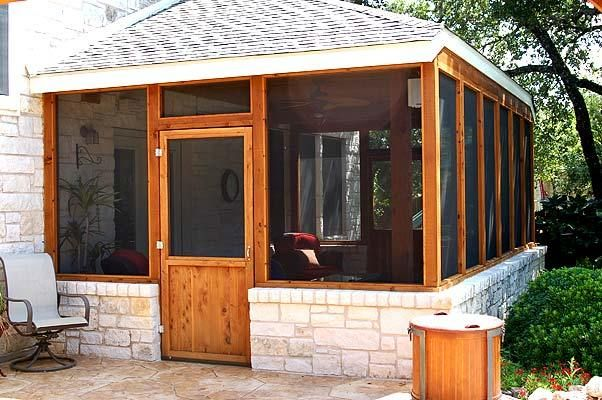 screened porch and patio screened porches photo gallery archadeck of austin - Screened In Patio Ideas