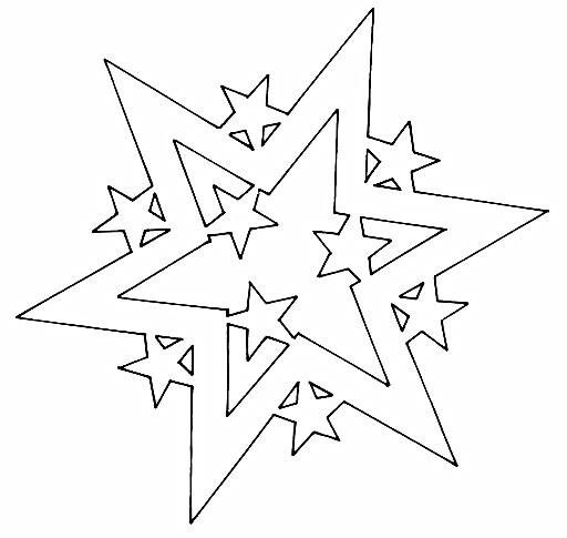 Star thinking cutting file silhouette cameo plotter for Sterne basteln vorlagen