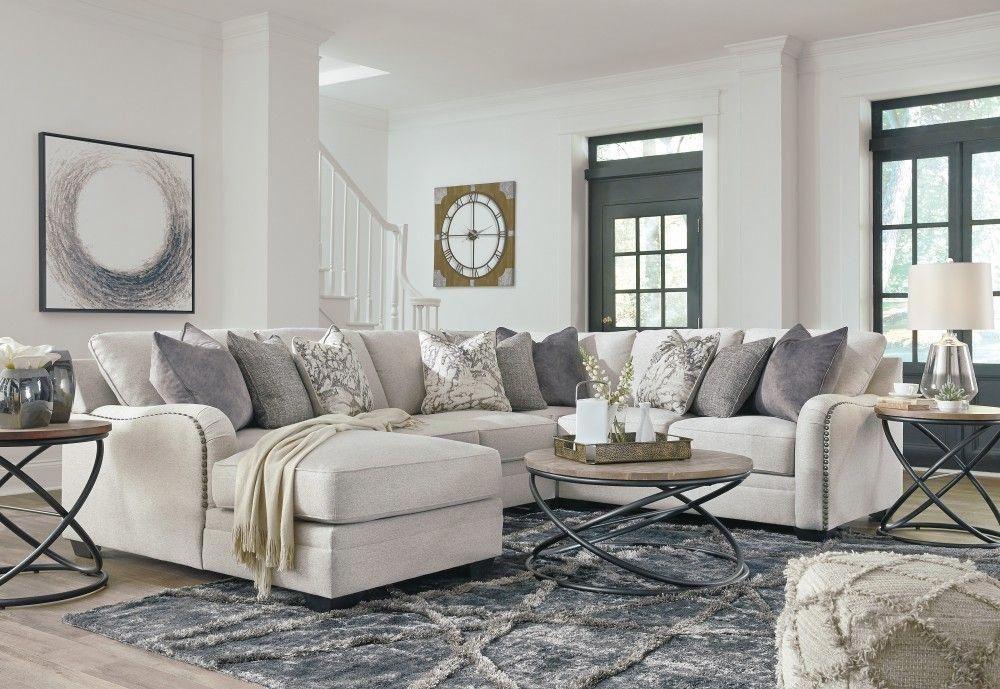 Dellara Chalk 4 Pc Corner Chaise Sectional Elegant Living Room Decor White Furniture Living Room Living Room Decor Neutral