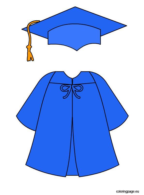 Blue Graduation Cap And Gown 학사모 졸업 유치원 졸업