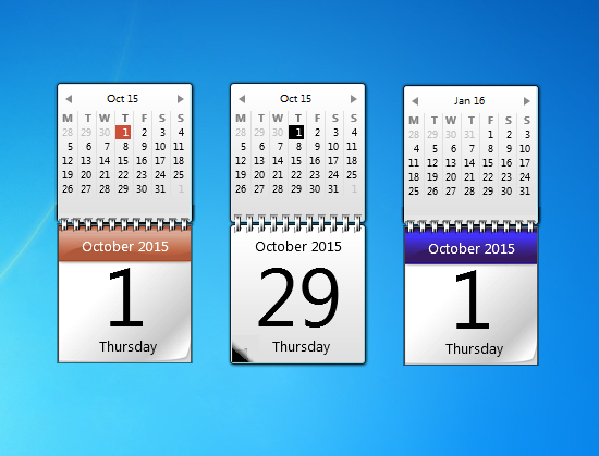 Pin by Windows Personalization on Calendar Gadgets Win7