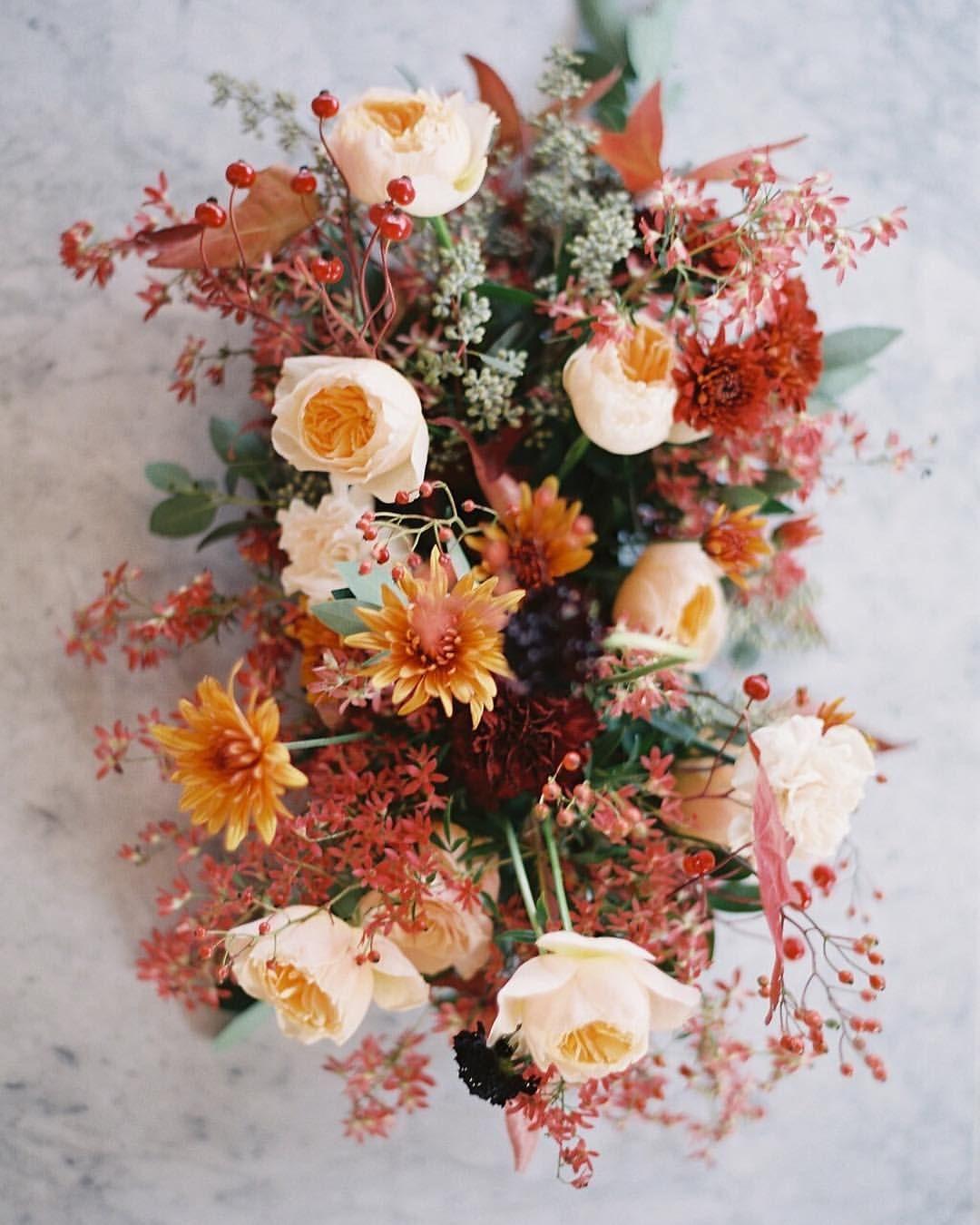 103 Likes 13 Comments Emma Lea Floral Emmaleafloral On Instagram It S Defin Fall Wedding Centerpieces Wedding Flower Girl Basket Flower Bouquet Wedding