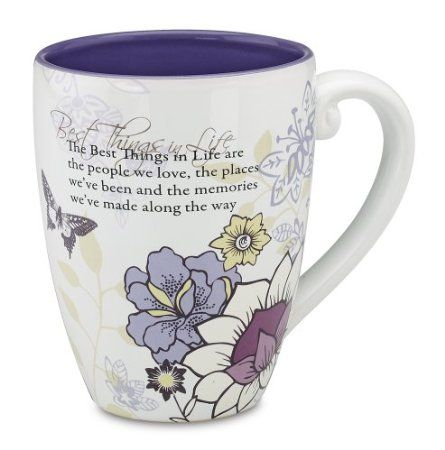 Amazon.com: Pavilion Mark My Words The Best Things in Life Mug, 17-Ounce, 4-3/4-Inch: Kitchen & Dining