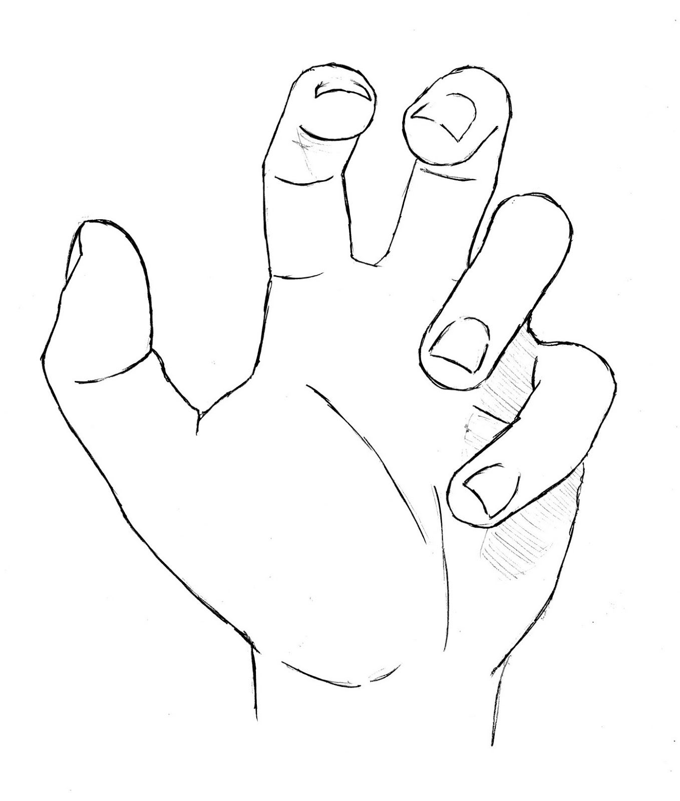 Draw Hand Open Palm Finished How To Draw Hands Drawings Hand Reference