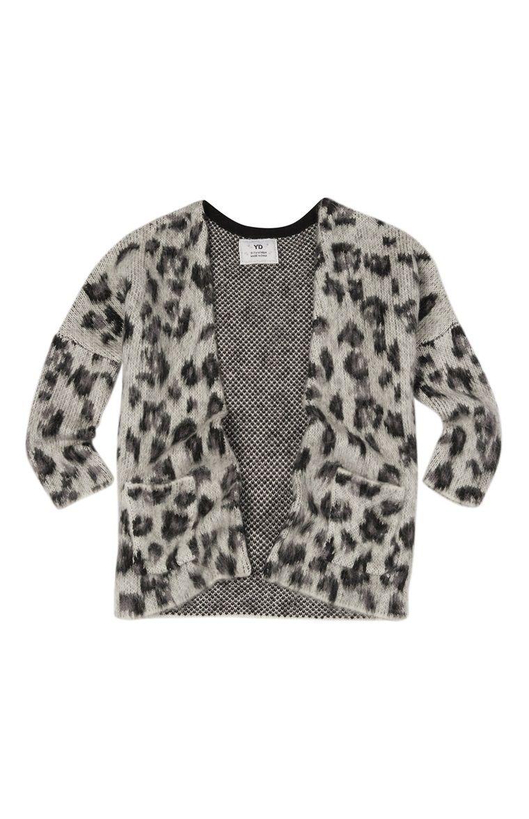 Primark - Grey Leopard Print Brushed Cardigan   Primark ...