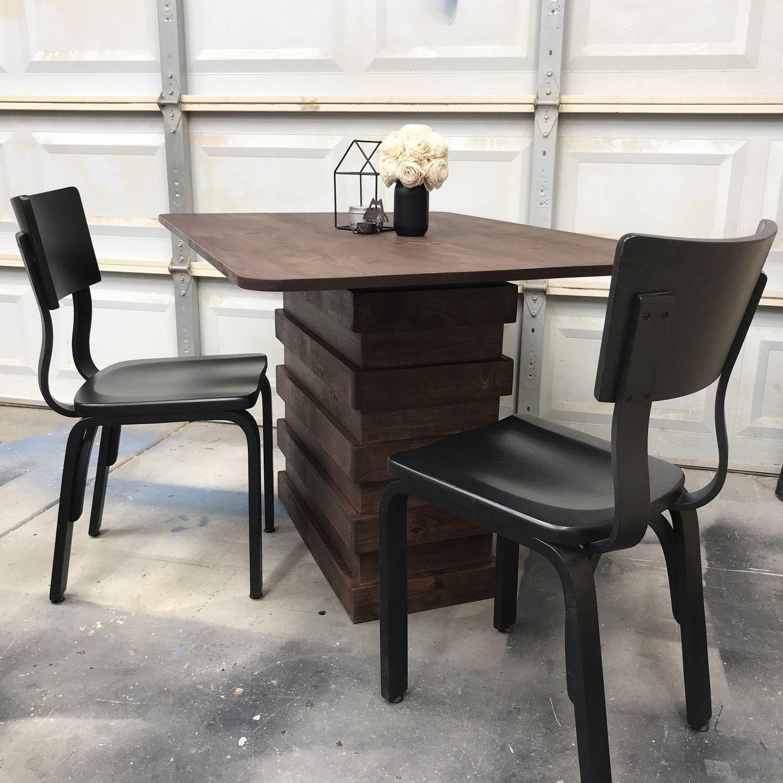 DIY Stacked Restoration Hardware Knockoff Dining Table