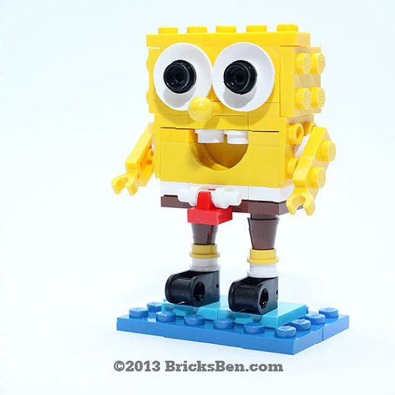 Lego Spongebob Squarepants Von Bricksben Auf Etsy Lego Pinterest