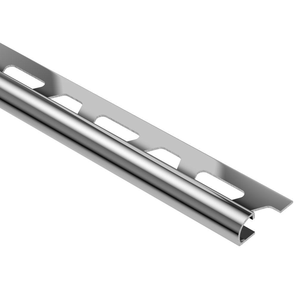 Schluter Rondec Stainless Steel 5 16 In X 8 Ft 2 1 2 In Metal