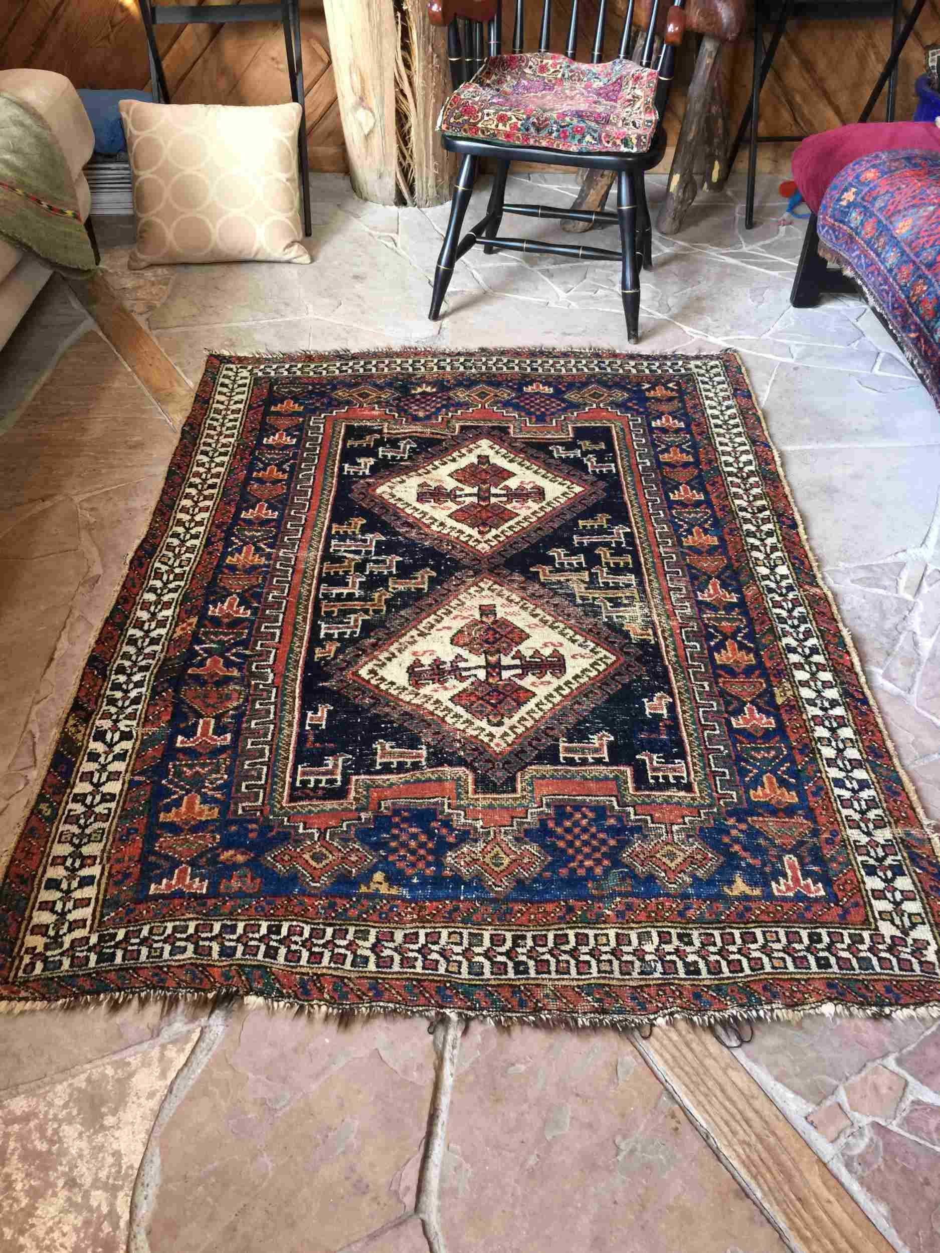 Vintage Persian Afshar Rug 4 3 X 5 7 Tribal Rug Tribal Rug Persian Persian Rug
