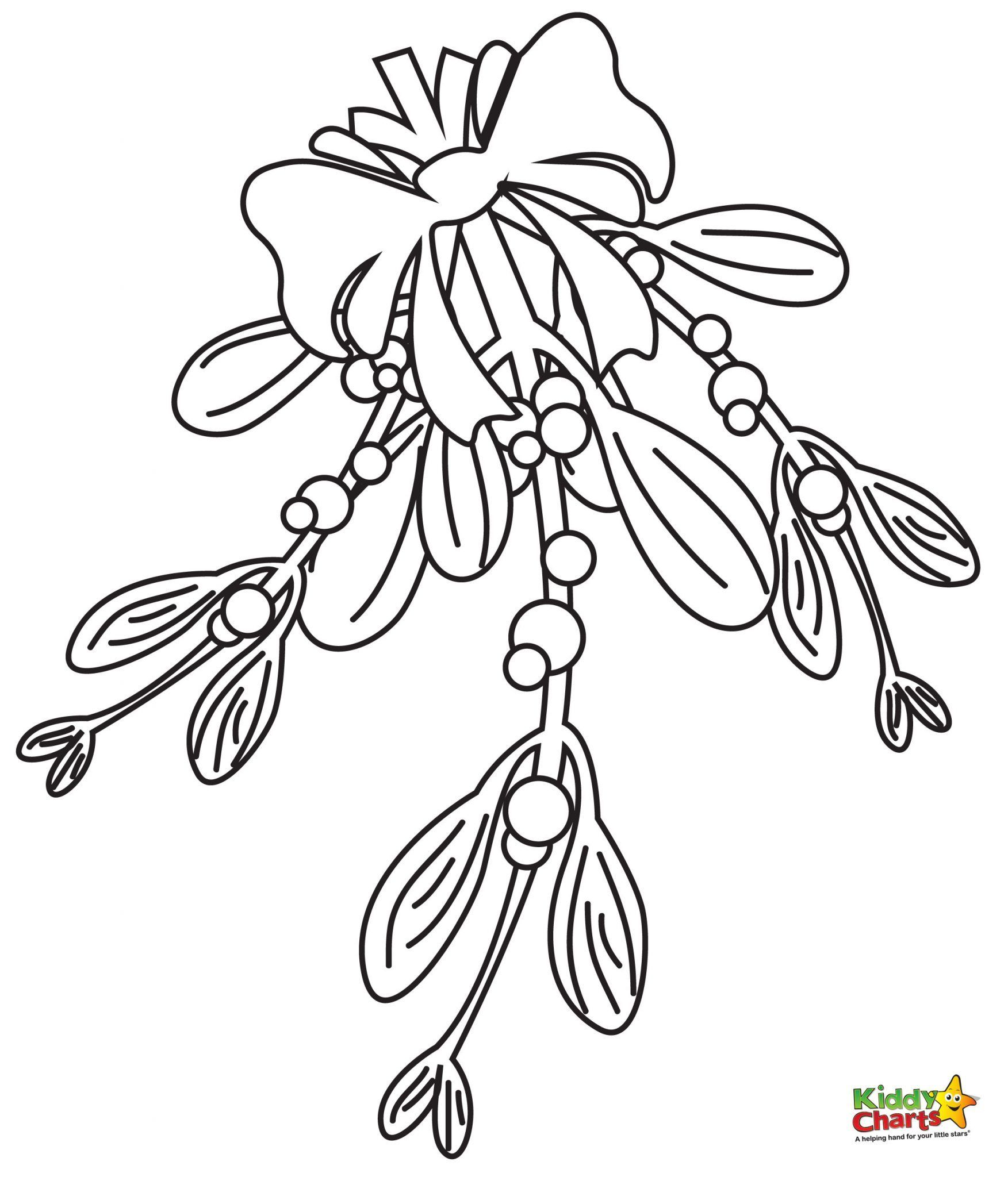 Colouring in reward charts - Mistletoe Coloring Pages