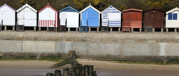 Discover Colourful Beach Huts In Frinton On Sea