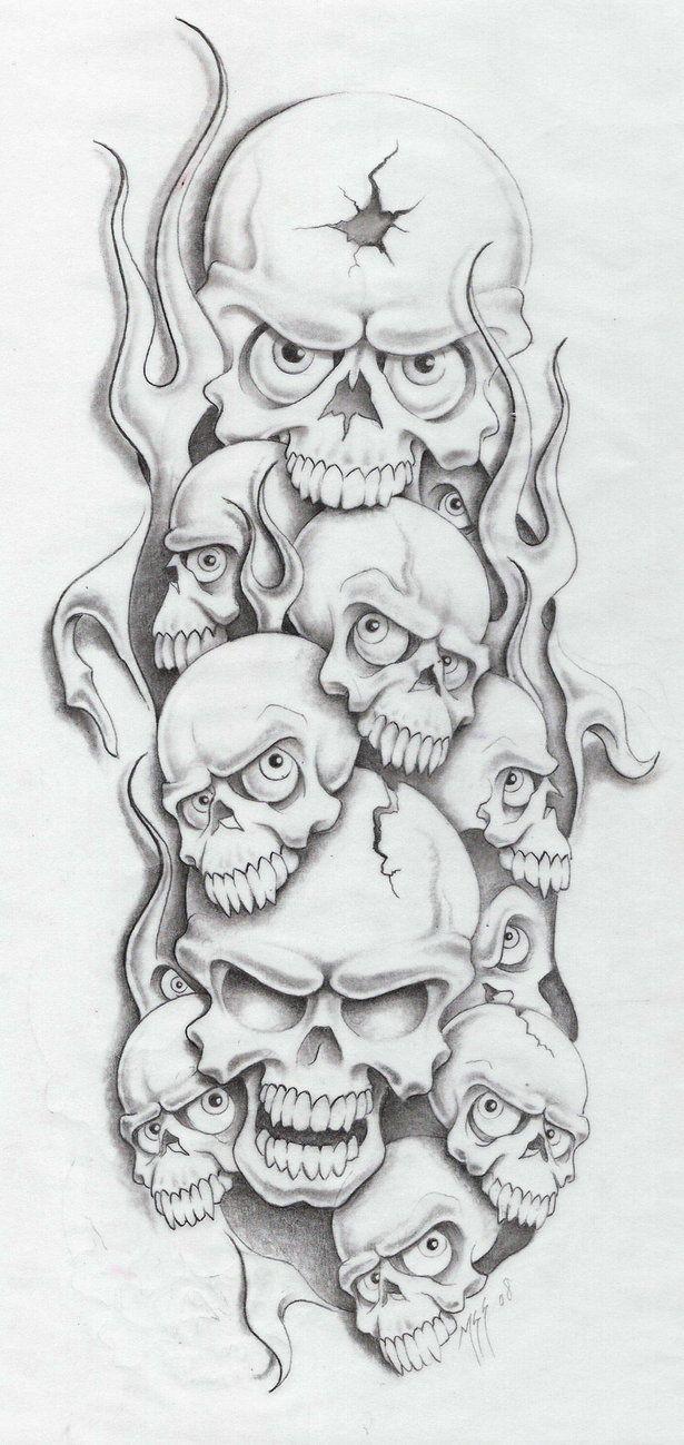 Pin By Jaroslav Hancl On Tatouages Skulls Drawing Skull Stencil Skull Art