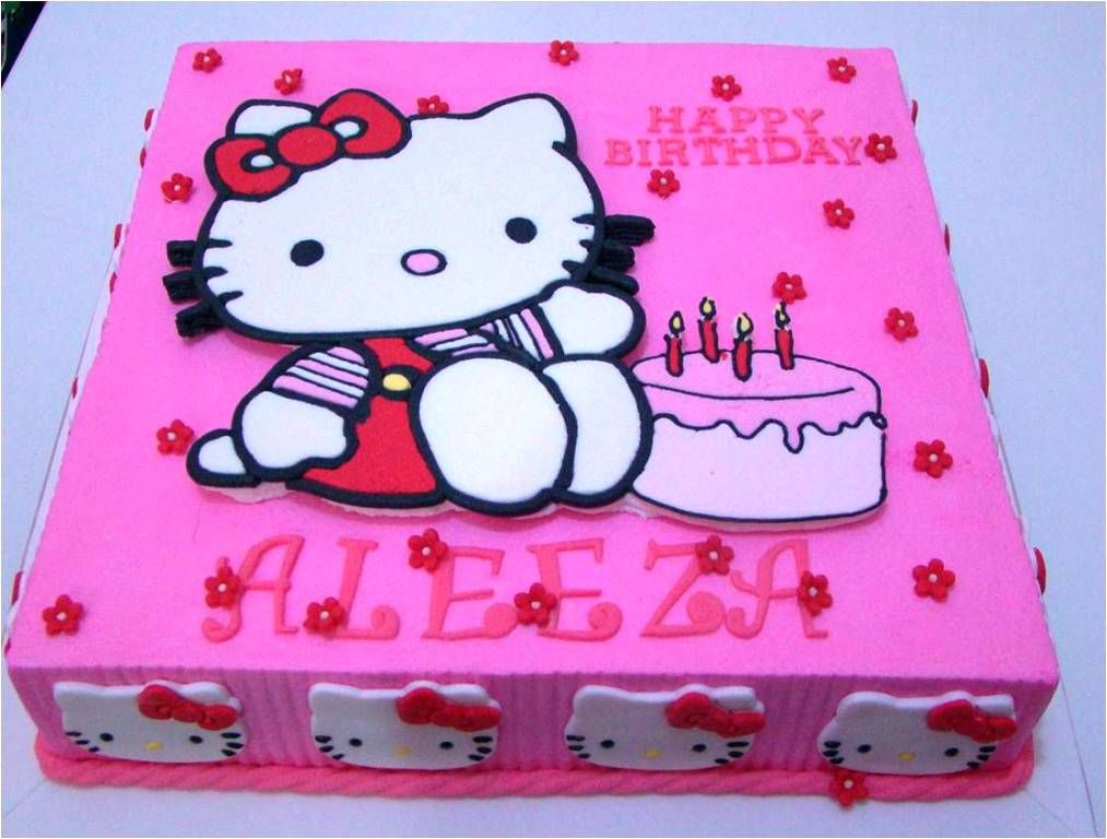 Hello Kitty Birthday Cakes Design