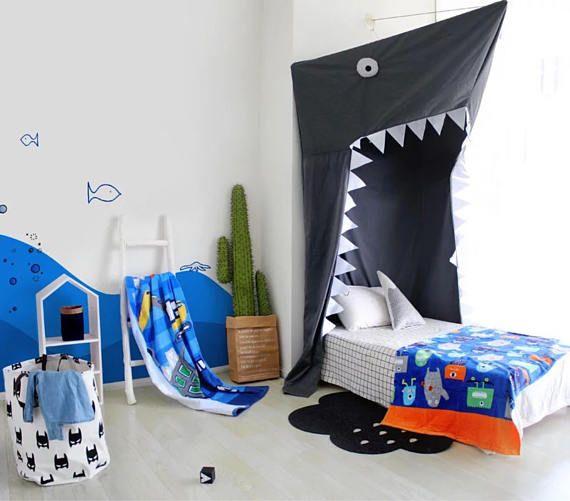 Shark Canopy Shark Bed Canopy Nursery Bed Canopy Boys