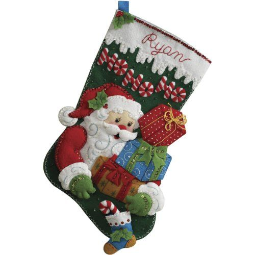 Bucilla 18-Inch Christmas Stocking Felt Applique Kit, Ho ... http://www.amazon.com/dp/B002SHQ29Q/ref=cm_sw_r_pi_dp_iIIvxb09MAW9J