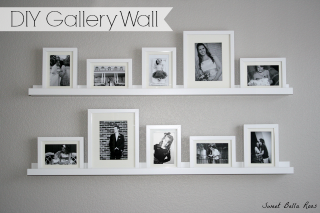 DIY Gallery Wall: How to create a photo gallery wall using frames ...