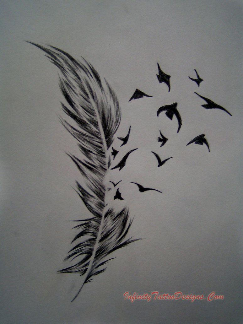 Ideas about bird tattoos on pinterest tattoos -  Feather Birds By Ephygenia Inked Pinterest Feather Bird Tattoos Tattoo And Bird