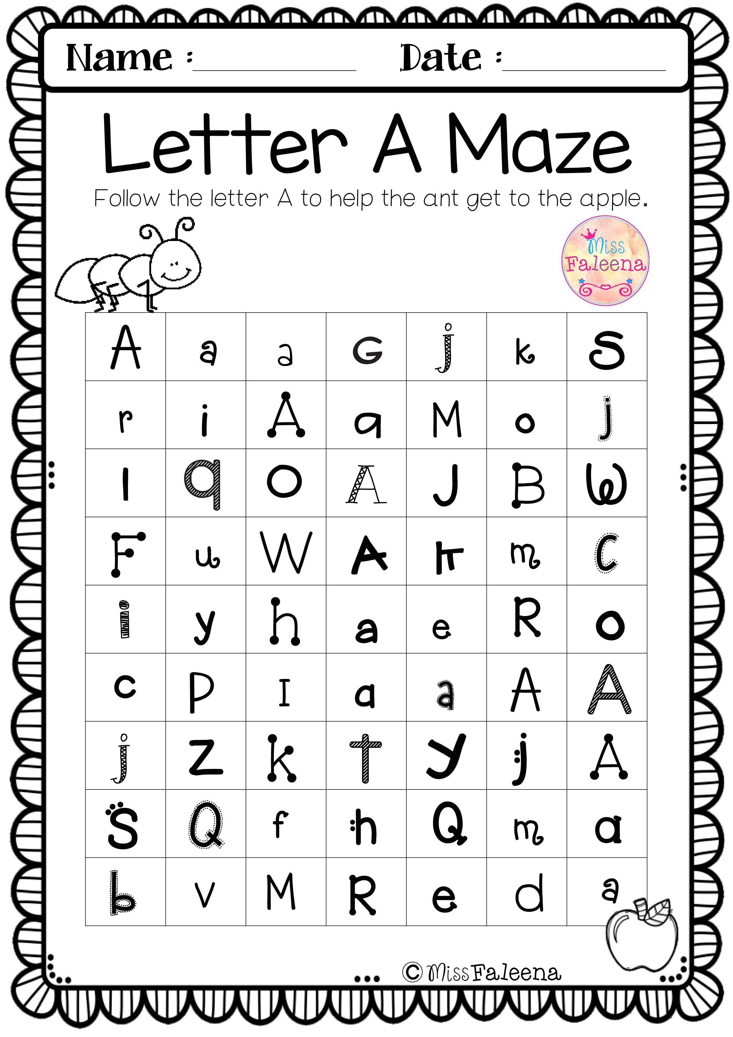 Free Alphabet Letter Of The Week A Alphabet Worksheets Preschool Alphabet Worksheets Learning Worksheets