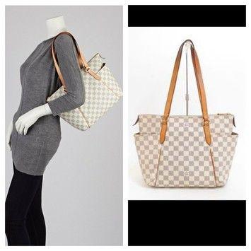 132814485eb8 Louis Vuitton Damier Azur Totally Pm Shoulder Bag 50% off retail