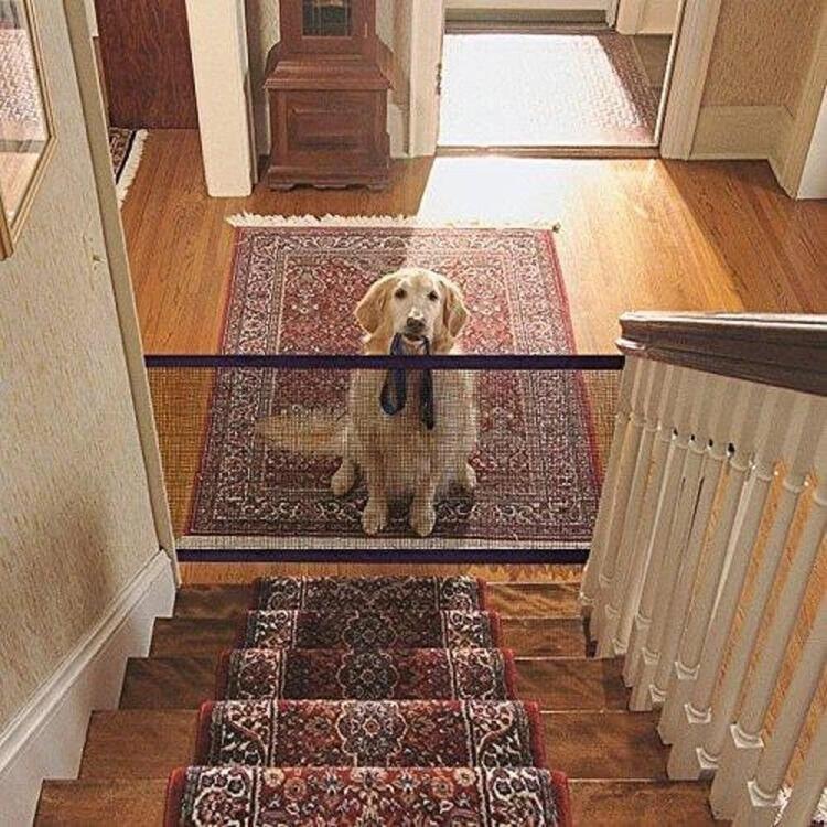 Magic Dog Gate Pet Safety Guard Portable Folding Safe Net for Dog Baby-Enclosure