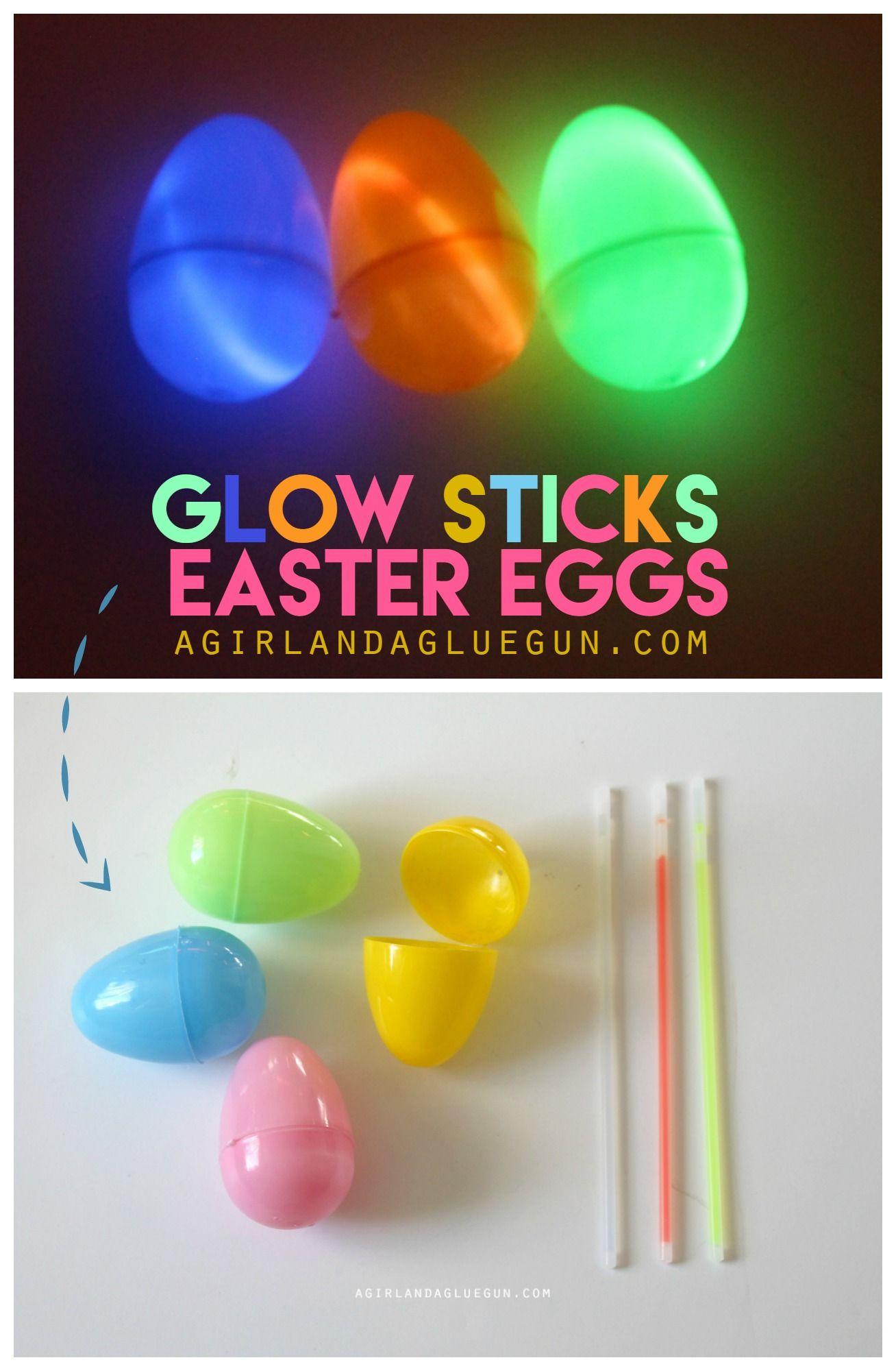 Glow in the dark egg hunt glow stick party glow sticks