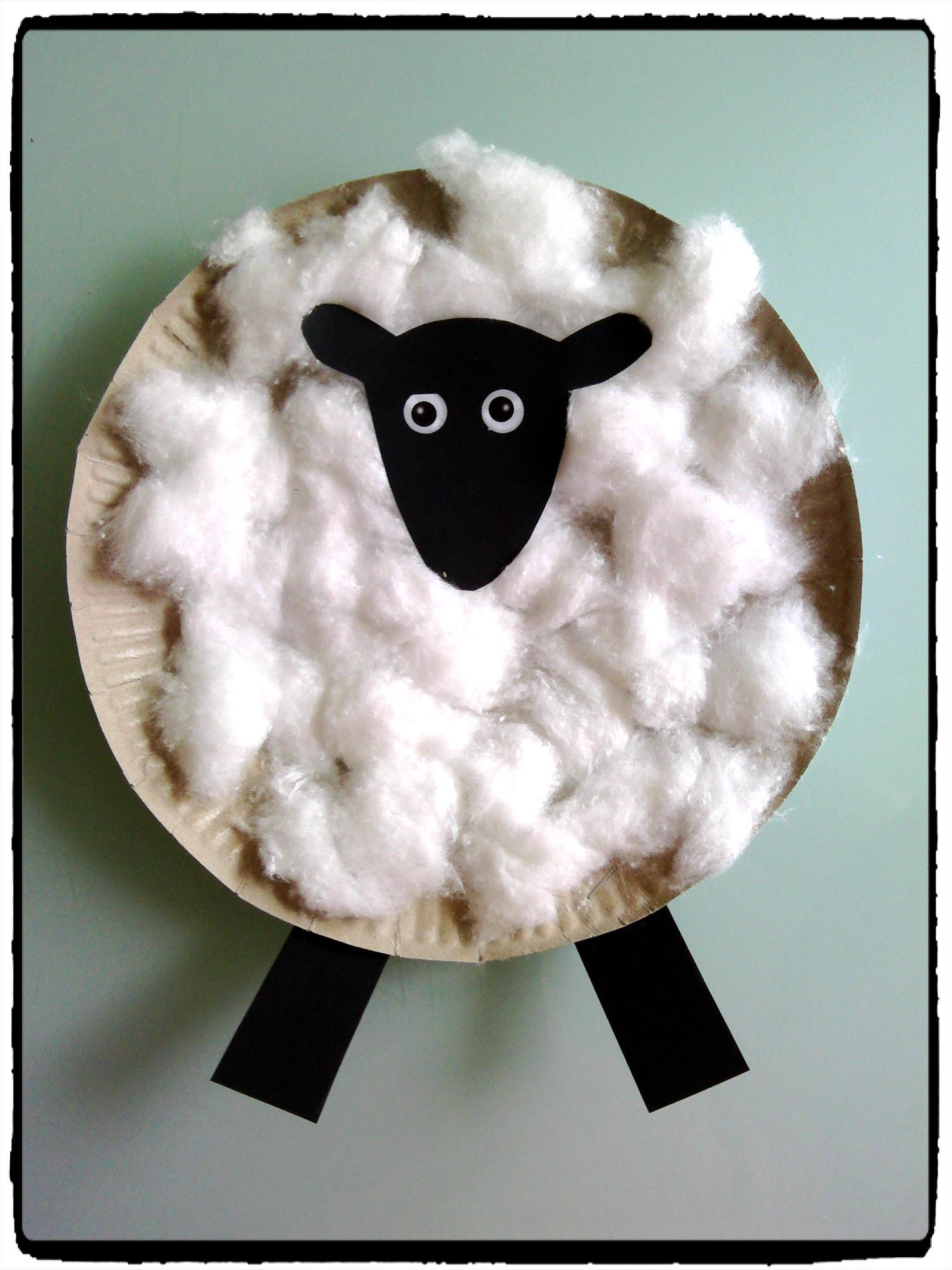 shaun le mouton assiette en carton collage de coton animaux de la ferme & Shaun le mouton | Bricolage Craft and Sheep crafts