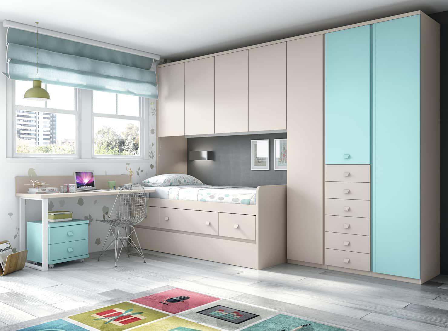 Proyectos habitaciones juveniles: dormitorios infantiles de estilo de crea y decora muebles