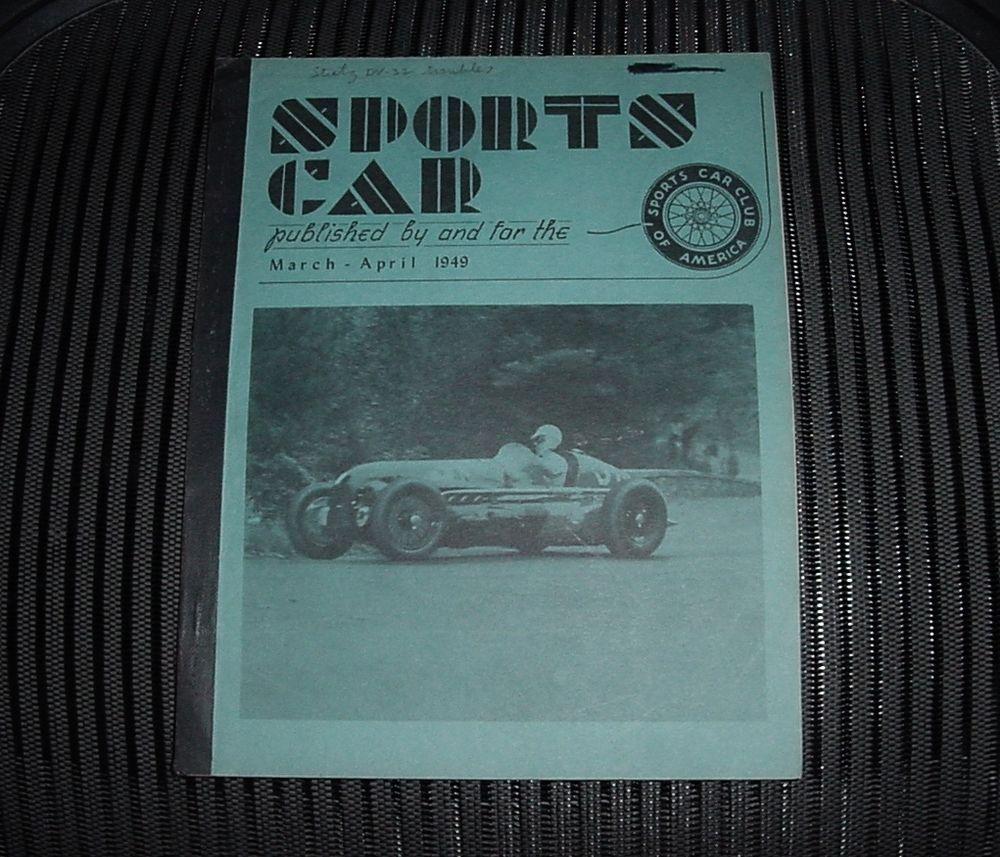 Super RARE MARCH - APRIL 1949 SPORTS CAR Magazine SCCA Hard to Find ...