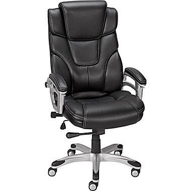 Baird Bonded Leather Manager Chair Black 23234 Bonded