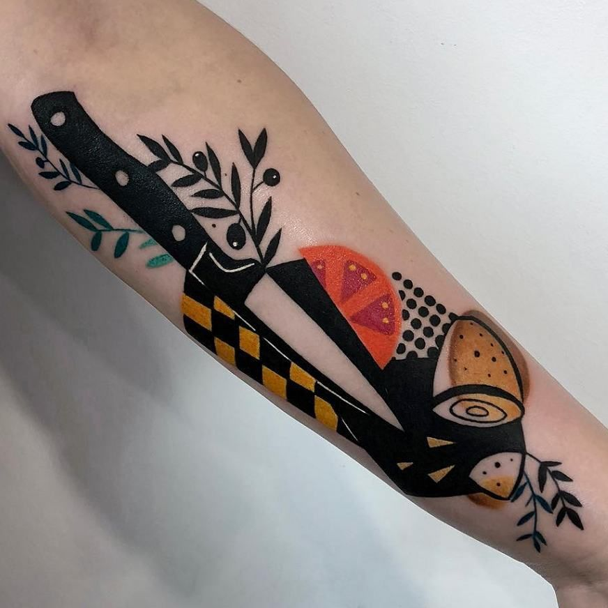 Absolutely Sick Style Fruit Tattoo Peach Tattoo Cherry Tattoos
