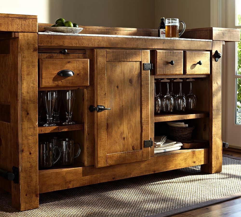 rustic ultimate bar pottery barn (wood you mind? consoles cabinetsrustic ultimate bar pottery barn (wood you mind? consoles cabinets bookcases wood classic natural brown iron embellishments living room)