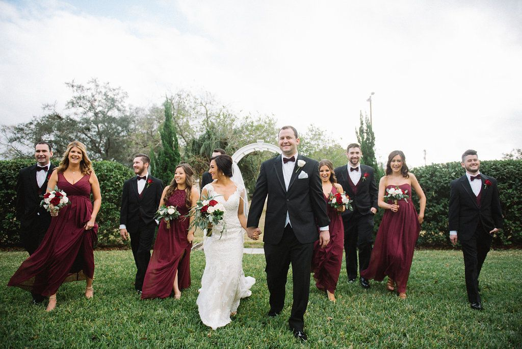 Romantic Burgundy Blush And Gold Tampa Wedding Red Bouquet