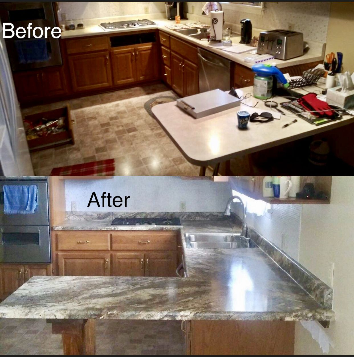 This Was A Countertop Replacement Only And What A Difference