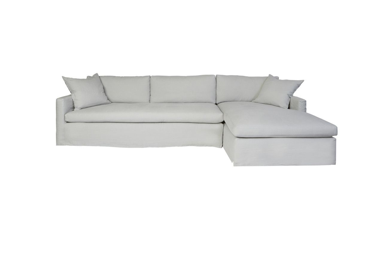 Promo Chaise Cisco Brothers Louis 2pc Sectional Essentials Collection Sofa