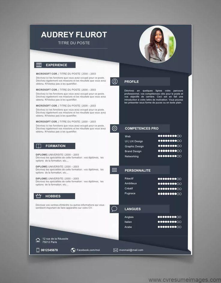 Resume Template Instant Download Best Cv Template Cover Letter Diy Printable Ms Word Design Resumedesignfr Graphic Design Resume Creative Cv Cv Design