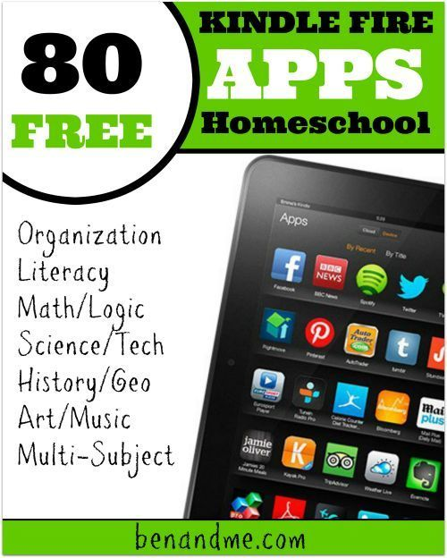 80 FREE Educational Apps for Kindle Fire Homeschool apps