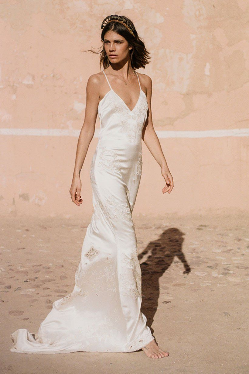 Mila De Wit Bourke Wears Spell Designs Odette Slip Dress Slip Wedding Dress Wedding Dresses Unique Minimal Wedding Dress,Stunning Wedding Guest Dresses Uk