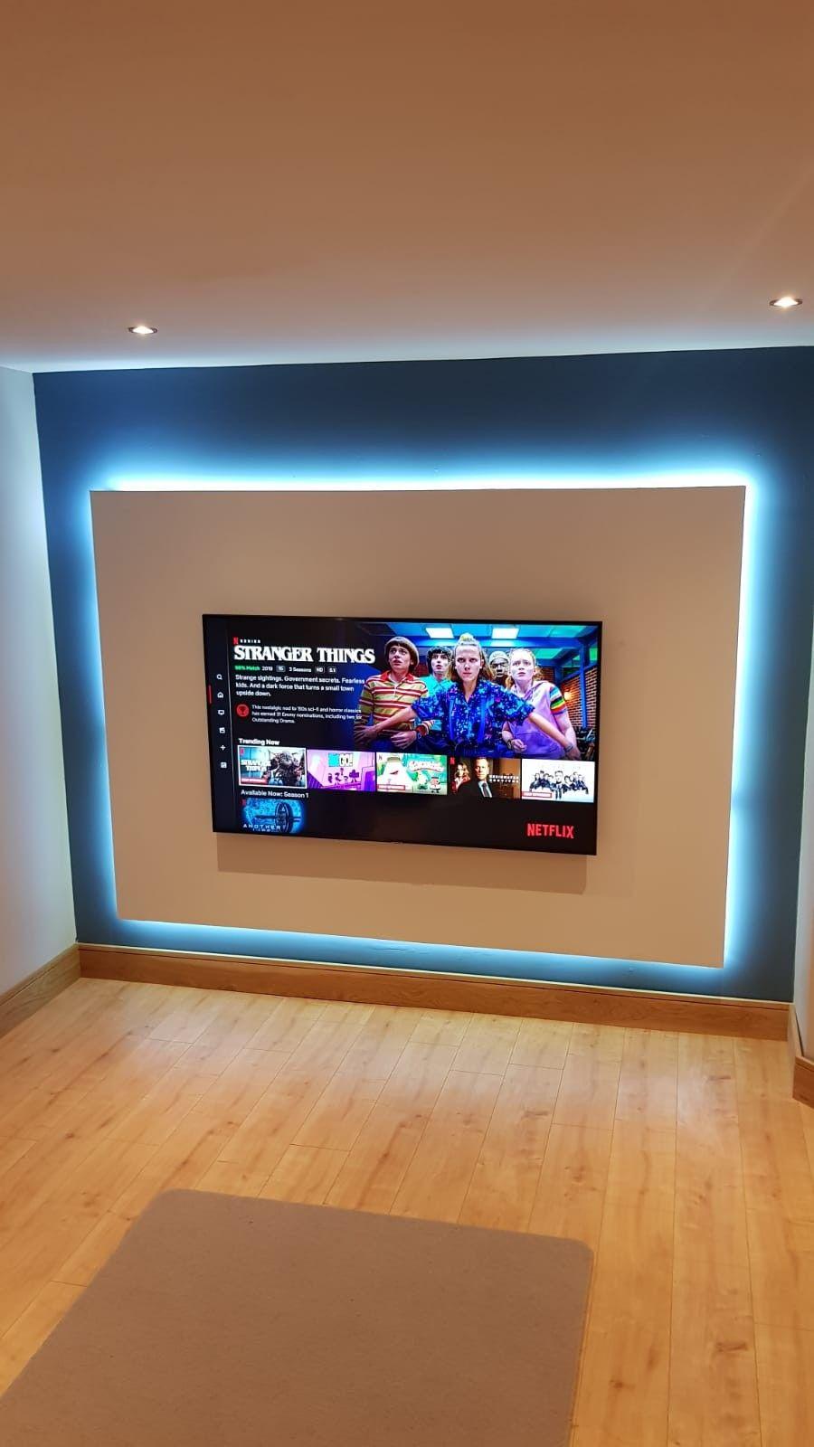 Tv Wall Idea Tv Wall Living Room Tv Wall Wall Mounted Light