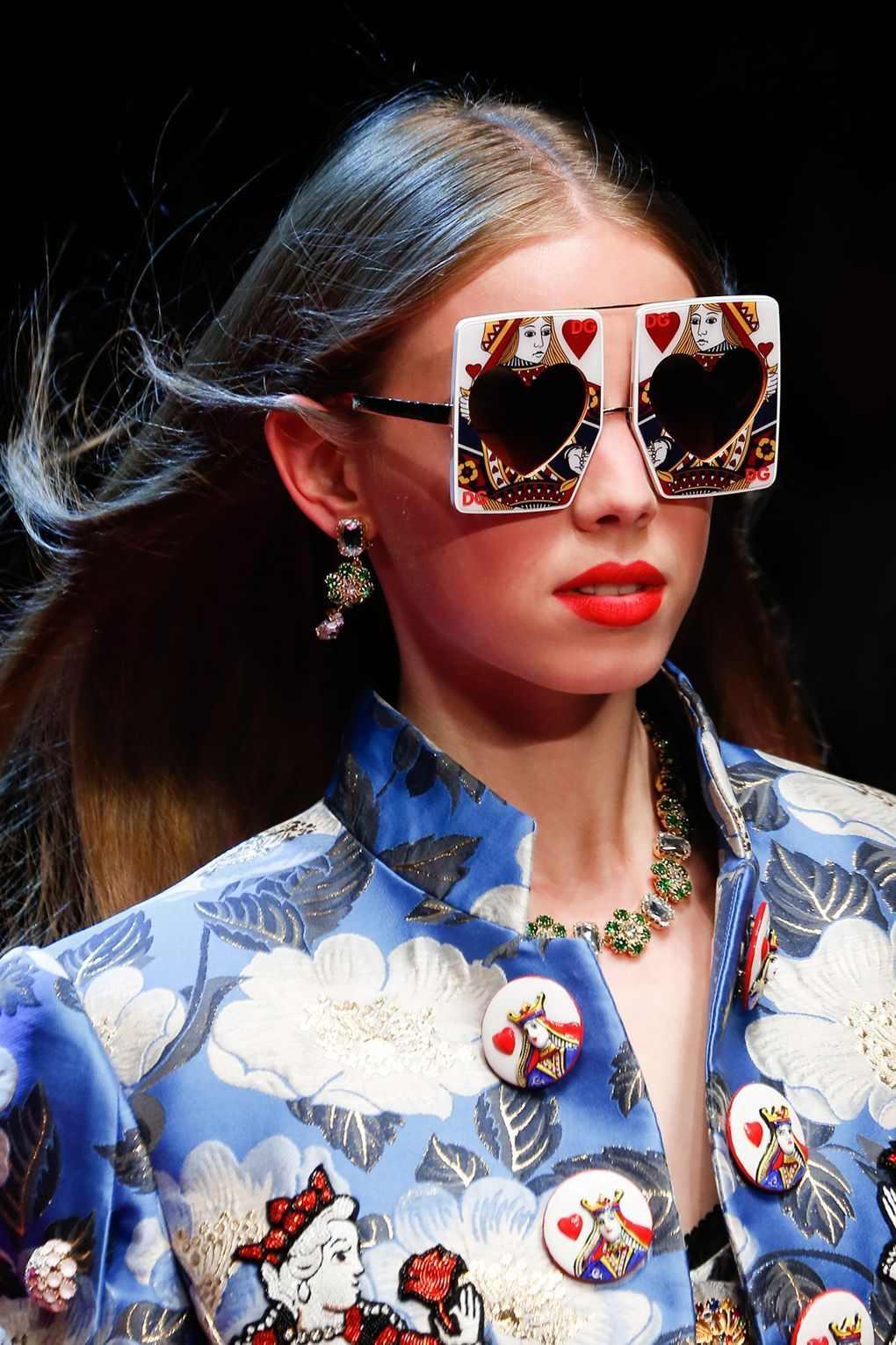 10 totally extra sunglasses at the dolce & gabbana show this