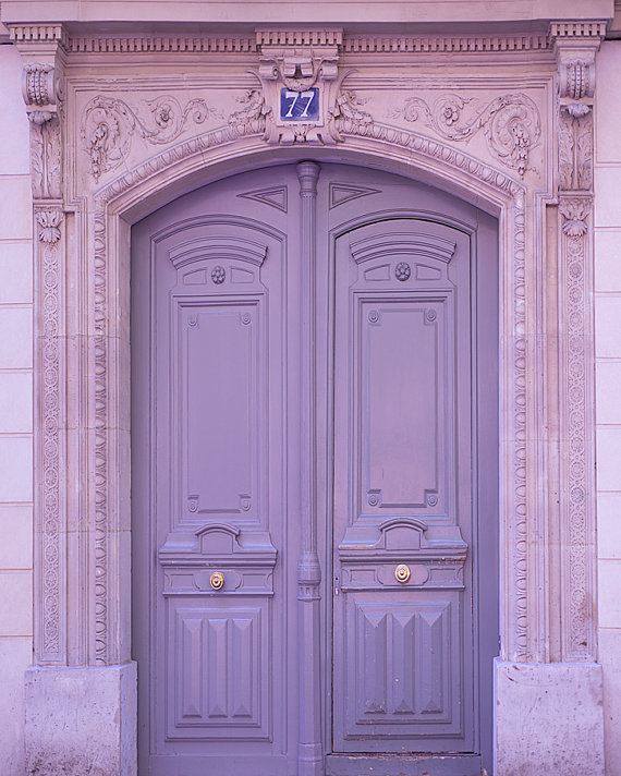 Paris Photography Lavender Door Architectural Home Decor French Decor Large Wall Art