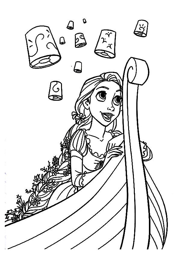 Print Coloring Image Momjunction Tangled Coloring Pages Princess Coloring Pages Rapunzel Coloring Pages