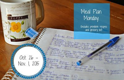 Darcie's Dishes: Meal Plan Monday: 10/26-11/1/15 // A complete on week meal plan that is 100% Trim Healthy Mama compliant. Includes all meals, snacks and drinks and features a printable shopping list as well.