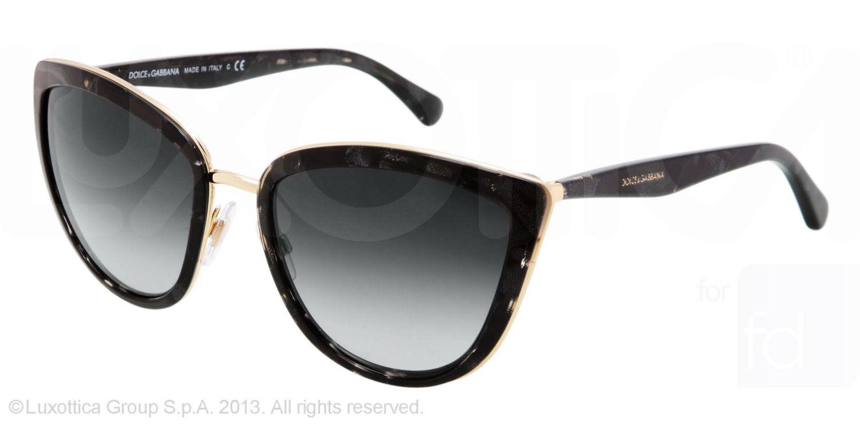 40d45f2853bcf Dolce    Gabbana Womens Essential Cat Eye Sunglasses Dolce and Gabbana  Black  Grey