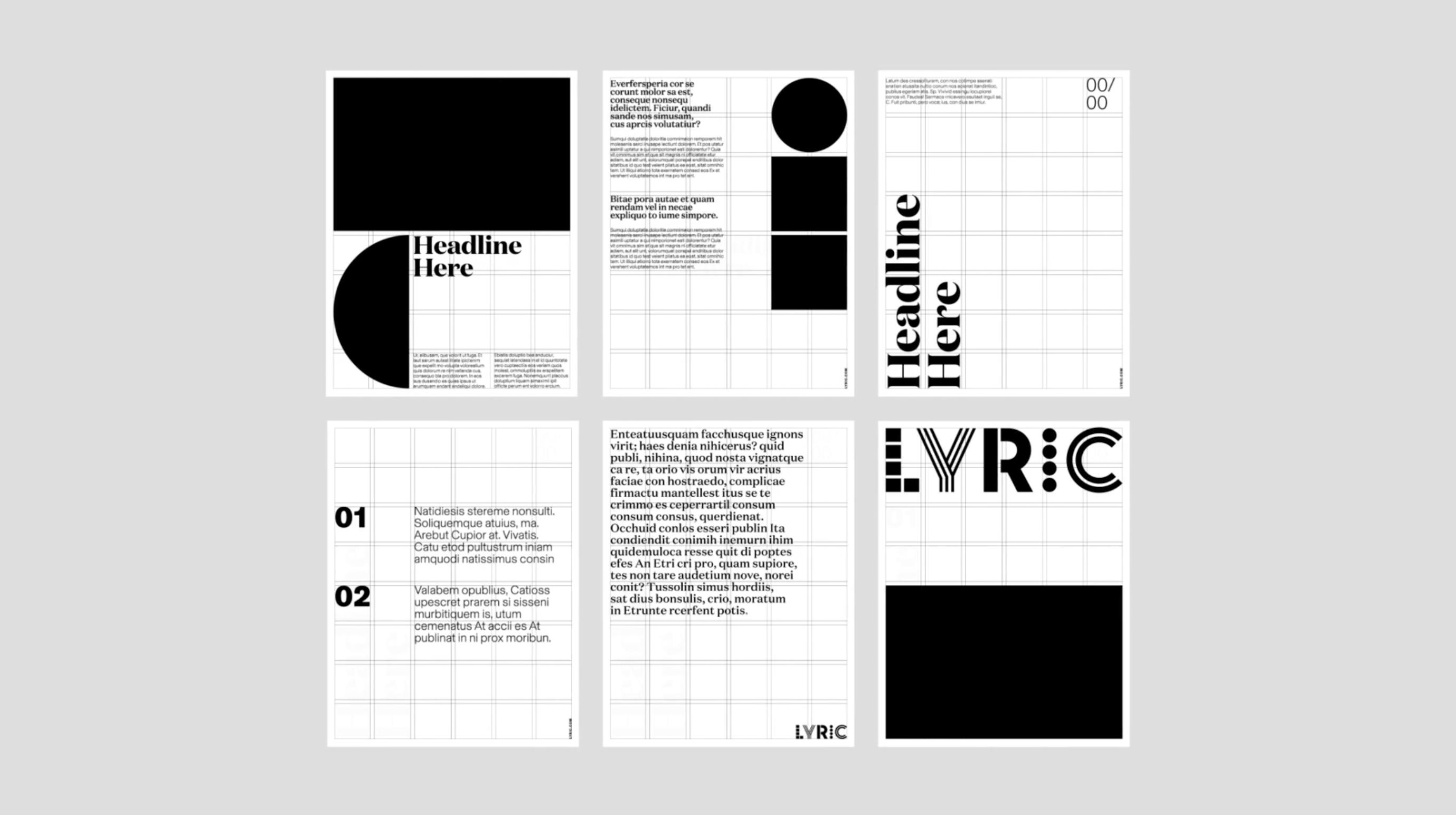 Lyric Layouts Lyrics Layout Text