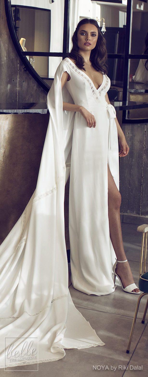Simple silk wedding dresses  NOYA By Riki Dalal Wedding Dresses Spring  Forever Bridal