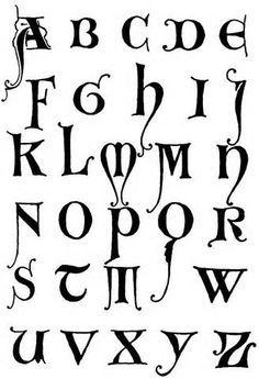 Lettering Styles A Z