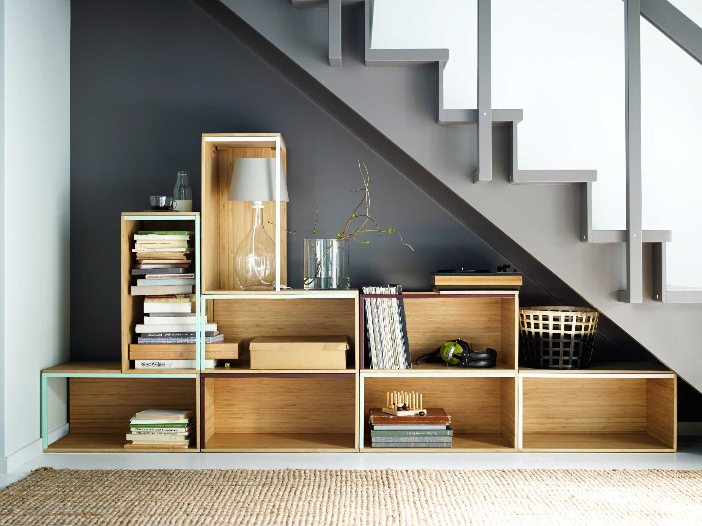 Modular Wooden Storage Boxes For More Like This Click The  # Meuble Hifi Tv Roulette Ikea Ps