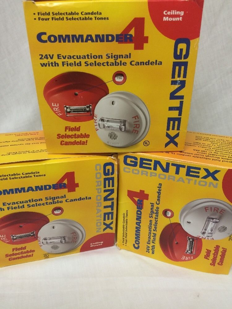 73c98339da8feec304d9caeda5726a91 gentex commander 4 fire alarm ceiling horn strobe gcc24cr red set